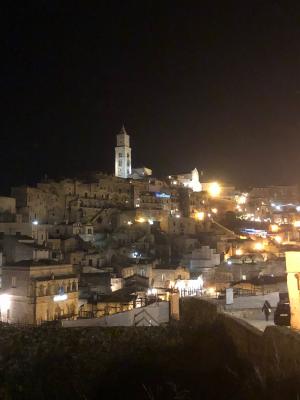 Matera_Veduta notturna